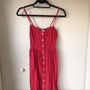 Red button-front Universal Thread sundress